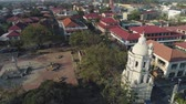колониальный : Historic colonial town in Spanish style Vigan, Philippines, Luzon. Aerial view of Historic buildings in Vigan city. Travel concept.