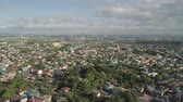 manila : Aerial view of Manila city with skyscrapers and buildings. Philippines, Luzon. Aerial skyline of Manila. Stock Footage