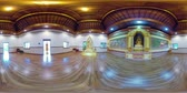 ibadet : vr360 Statue Buddha god in Buddhist temple Brahma Vihara Arama with statues of the gods on Bali island, Indonesia. Bali Architecture, Ancient design. Travel concept. Stok Video