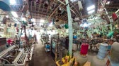 mercado : antique street shop with old, vintage items. antiques for sale.panorama 360 Bali Indonesia Stock Footage