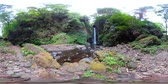 バリ : vr360 waterfall in green rainforest. tropical waterfall in mountain jungle. Bali,Indonesia. Travel concept. 動画素材