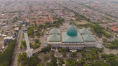 cami : aerial view mosque in Indonesia Al Akbar in Surabaya, Indonesia. beautiful mosque with minarets on island Java Indonesia. mosque in an asian city