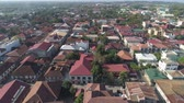 kulturális : Historic colonial town in Spanish style Vigan, Philippines, Luzon. Aerial view of Historic buildings in Vigan city. Travel concept.