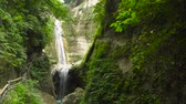 dao : Dao waterfalls in a mountain gorge in the tropical jungle, Philippines, Cebu. Waterfall in the tropical forest.