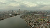 miasto : Manila city, the largest metropolis of Asia with skyscrapers and modern buildings. Travel vacation concept.