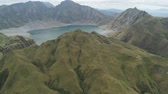 jezera : Aerial view crater lake volcano Pinatubo among mountains, Philippines, Luzon. beautiful landscape at Pinatubo mountain crater lake. Travel concept