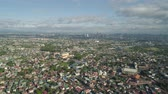 semt : Aerial view Manila city with skyscrapers and buildings. Philippines, Luzon. Aerial skyline of Manila.