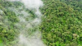 chovendo : Cordillera on Luzon Island, Philippines, aerial view. Mountains and rainforest. Rain clouds in a tropical climate. Stock Footage