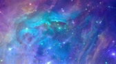 field : Coloful and dynamic nebula, seamless loop Stock Footage