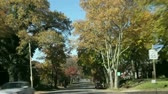 weather : Fast driving (10X)  through a typical american street in autumn, Pittsburgh, Pennsylvania