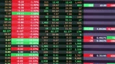 idegen : Bad day for stock market, timelapse, 4X real speed Stock mozgókép