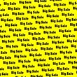 사선 : black word big sale on a yellow background