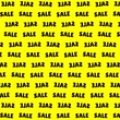 cena : a black word sale on a yellow background