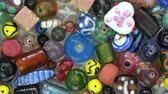 artesanato : Beautiful various vintage indian glass beads from India rotating background