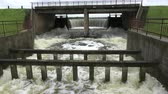 waterway : Water overflow in old river lake dam after rains