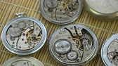 numerais : Old pocket clock watch group rotating on mat