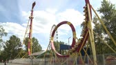 pulsation cardiaque : Roller coaster. Parc d'attractions