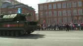 caqui : MOSCOW RUSSIA  MAY 09: The parade of military equipment during the celebrations of the 70th anniversary of the victory over Germany during the Second World War Moscow on 09 May 2015 Russia