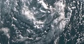 furacão : Hurricane on Earth viewed from space. Typhoon over planet Earth.