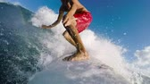 shortboard : POV Surfing Slow Motion
