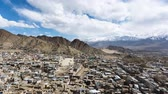 4k, timelapse, Leh Ladakh city and Mountains, Ladakh, India. (Down-Up) Dostupné videozáznamy