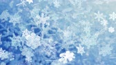 geada : Snowflakes 100: Christmas snowflakes falling (Video Loop). Stock Footage
