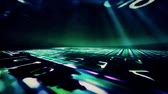 readout : Video Background 1030: A digital data floor and ceiling with light beams (Video Loop). Stock Footage