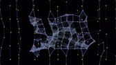 emaranhado : Future Shapes 1002: Abstract geometrical video background with wireframe triangles and squares (Loop). Vídeos