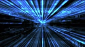 estatística : Future Tech 0215: Futuristic technology digital light abstraction (Loop). Stock Footage