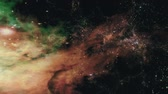 cosmic : Space 2358: Flying through star fields in deep space (Loop). Stock Footage
