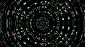 radial : Video Background 2335: A futuristic radial data glitch (Loop). Stock Footage