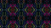 psychedelic pattern : Video Background 2339: A tileable kaleidoscope of abstract forms (Loop). Stock Footage