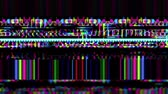 электроника : Data Glitch 028: Streaming data malfunction screen display (Loop). Стоковые видеозаписи