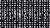 contando : Numbers 003: A data screen of numbers flicker and shift (Loop).