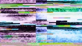 televizyon : Glitch 1038: Digital noise video damage (Loop). Stok Video