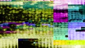 futuristico : Glitch 1047: malfunzionamento del video digitale (loop). Filmati Stock