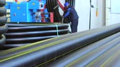 Production process of plastic pipes