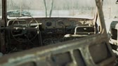 corrode : Rusty car exploded inside