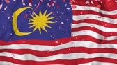 orgulho : 4k Realistic 3D detailed slow motion Malaysia flag , Falling Rose petals on flying Malaysia Flag Animated Background,   Waving Malaysia Flag Background, 4k Render, 3D animation