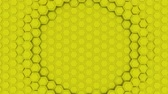 фрактальный : Hexagon Abstract Futuristic Background Seamless Loop Animation, Motion Graphics Element Стоковые видеозаписи