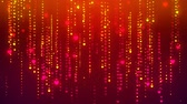 weather : Falling Heart Glittering Particle Streaks, Raining Glowing Glitter Particles, Motion Background Animated Video Backdrop Loop Multicolored, Digital Heart Rain Stock Footage