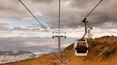 cabine : Cable car tour in Quito, going up and down to the Pichincha volcano, time lapse