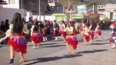 gipsy : BANOS, ECUADOR - 01 JUNE 2015: Teenagers in gypsies costumes dancing for their school 100th anniversary in BANOS on JUNE 01, 2015 Stock Footage