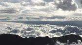 weather : Cloudscape from high altitude in Andes mountains range in Ecuador Stock Footage