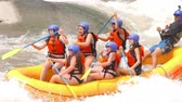 Group Of Young Women In Underwear On Extreme White Water River Rafting Trip On Pastaza River In Ecuador