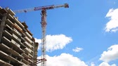 shaky : building and tower crane Stock Footage