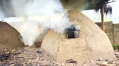 karakalem : native charcoal incinerator in countryside of thailand