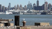 yeni : View of the Manhattan skyline across the Hudson