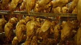 dry cured : chicken drumsticks in a homemade smokehouse