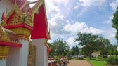 ibadet : Buddha temple in Asia, a religious shrine of Buddhism, a temple complex Stok Video